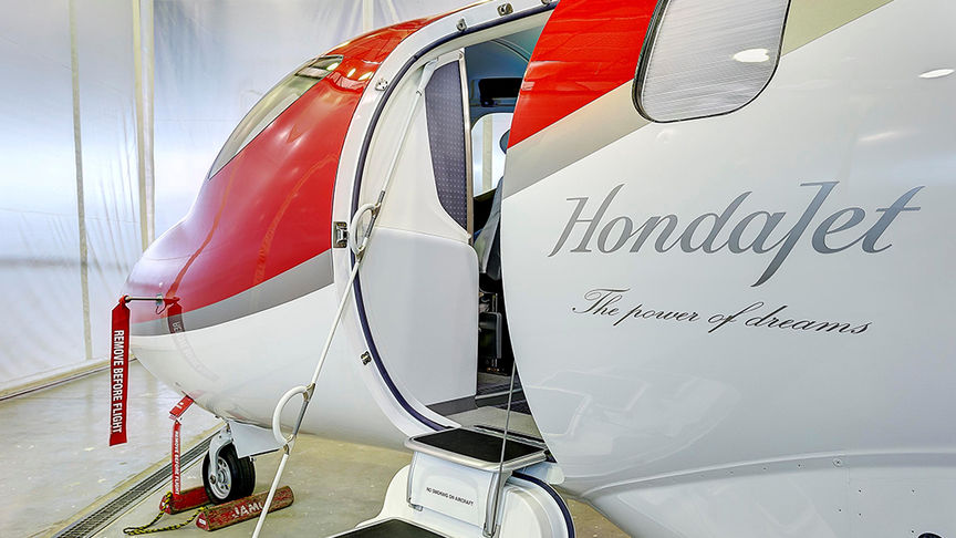 HondaJet logo on plane